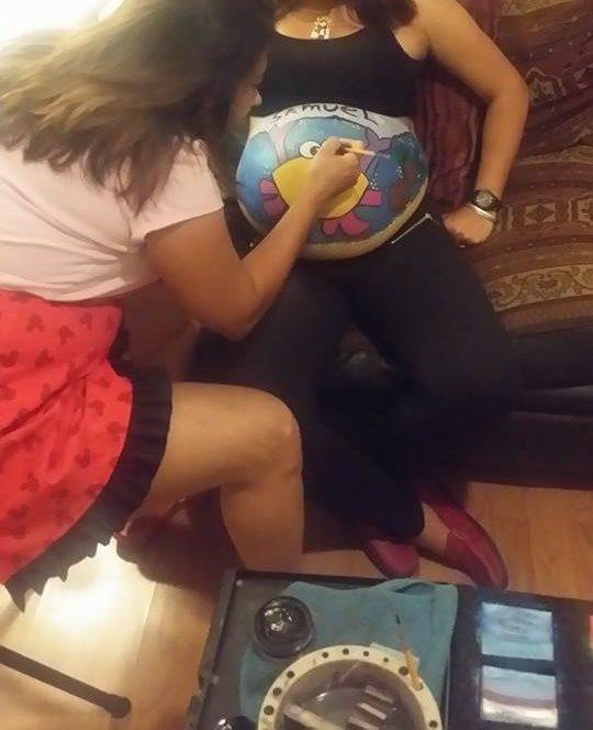 Prenatal belly paintings / Pooof Productions